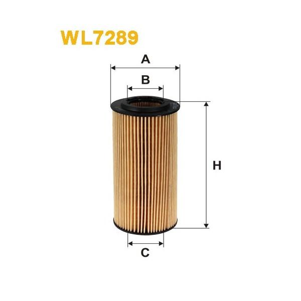 Filtro aceite Wix WL7289