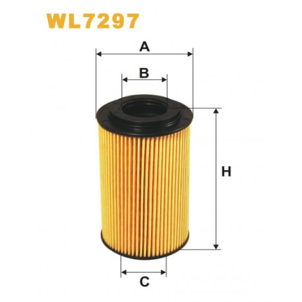 Filtro aceite Wix WL7297