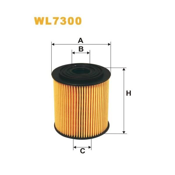 Filtro aceite Wix WL7300