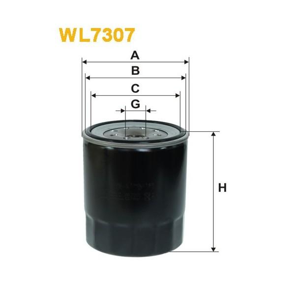 Filtro aceite Wix WL7307