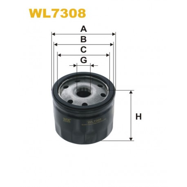 Filtro aceite Wix WL7308