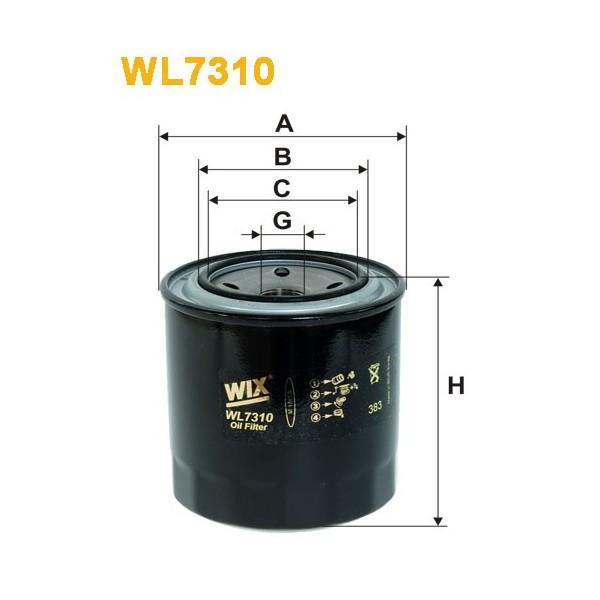 Filtro aceite Wix WL7310