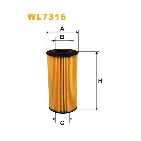 Filtro aceite Wix WL7316
