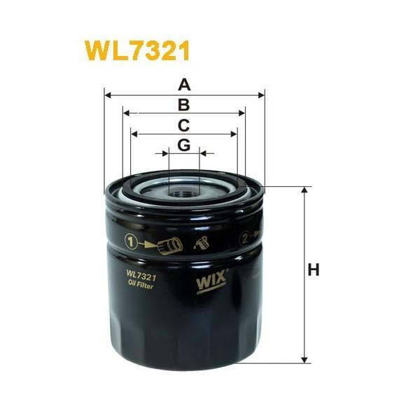 Filtro aceite Wix WL7321