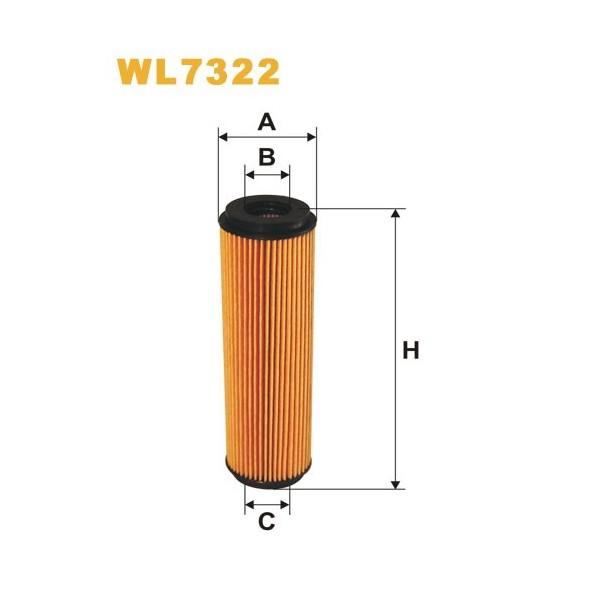 Filtro aceite Wix WL7322