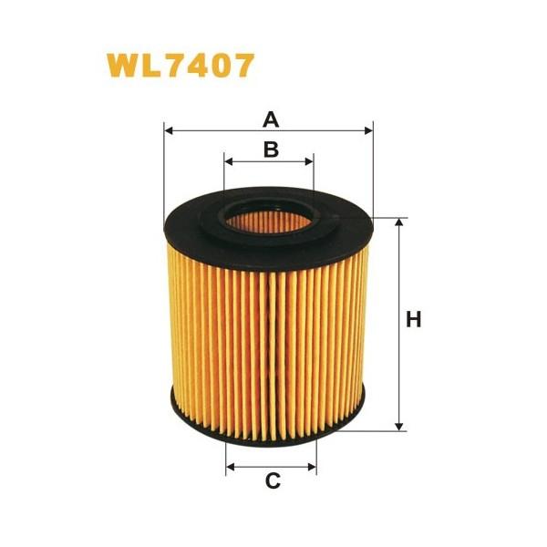Filtro aceite Wix WL7407