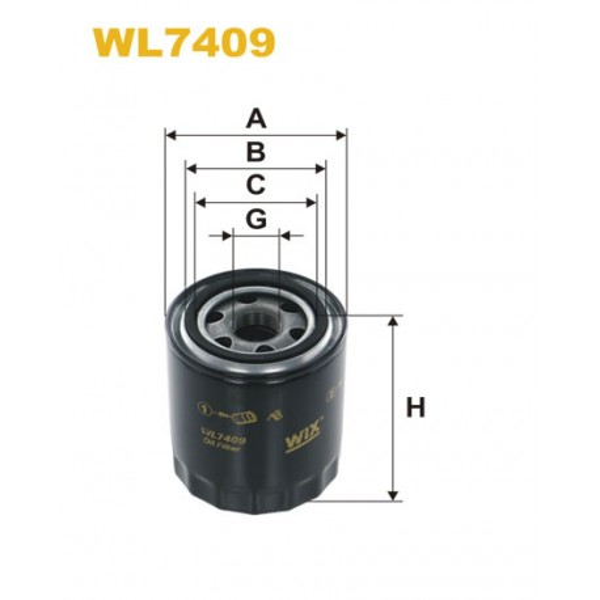 Filtro aceite Wix WL7409