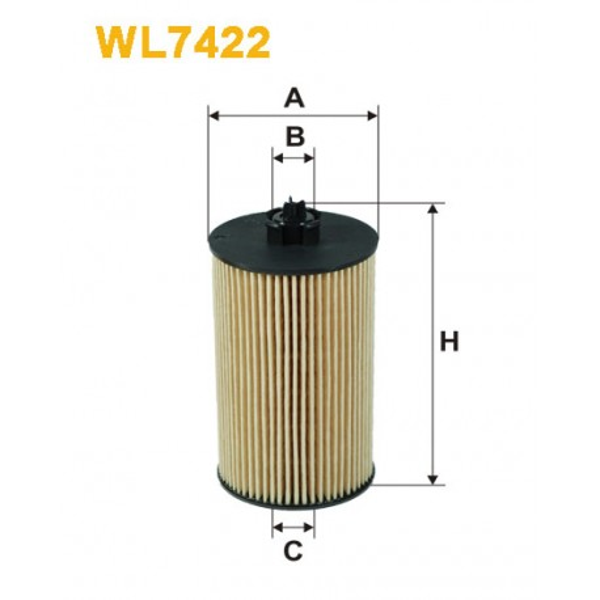 Filtro aceite Wix WL7422
