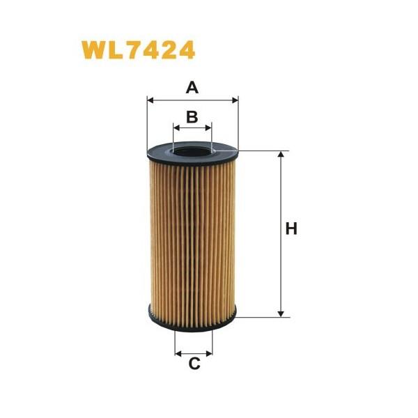 Filtro aceite Wix WL7424