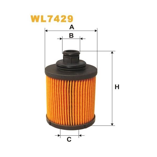 Filtro aceite Wix WL7429