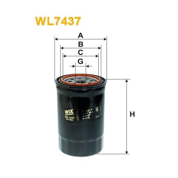 Filtro aceite Wix WL7437