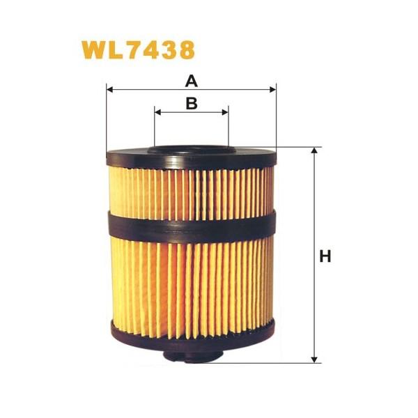 Filtro aceite Wix WL7438
