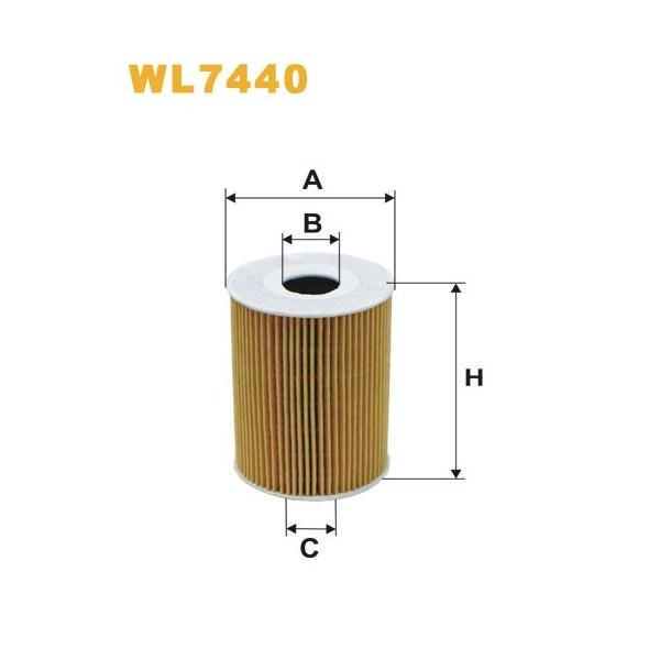 Filtro aceite Wix WL7440