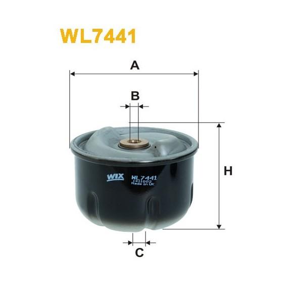 Filtro aceite Wix WL7441