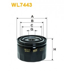 Filtro aceite Wix WL7443