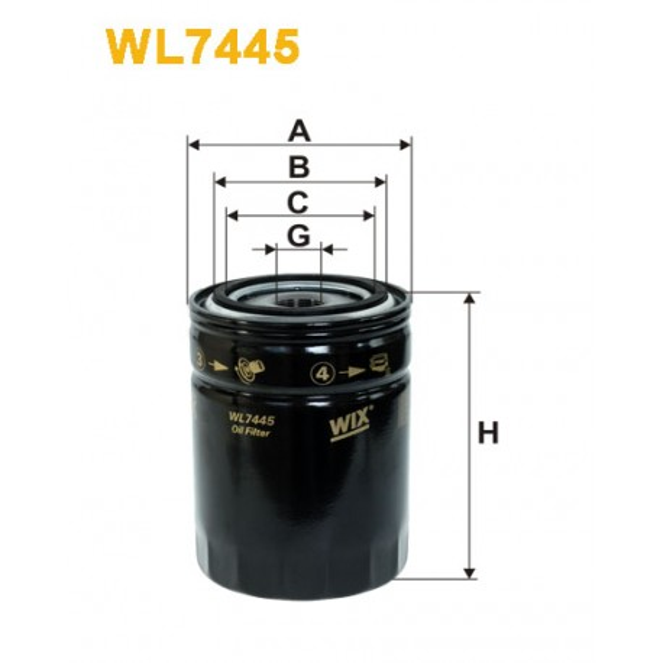Filtro aceite Wix WL7445