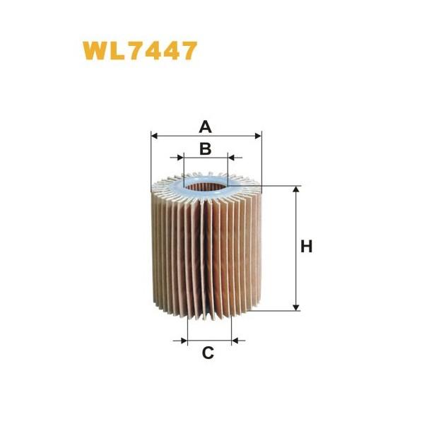 Filtro aceite Wix WL7447