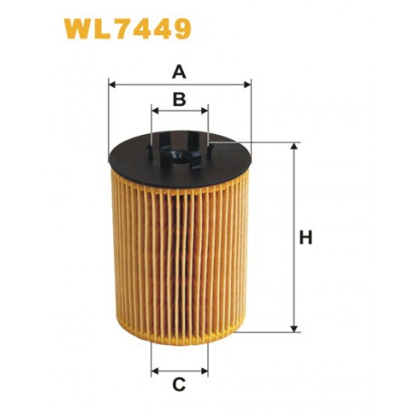 Filtro aceite Wix WL7449