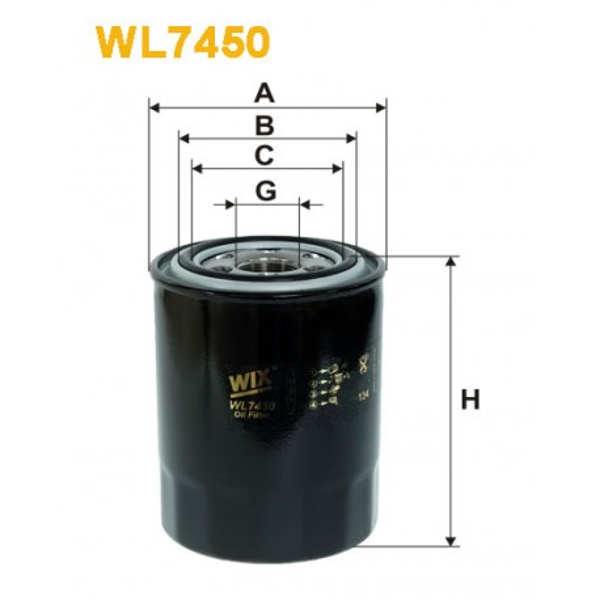 Filtro aceite Wix WL7450