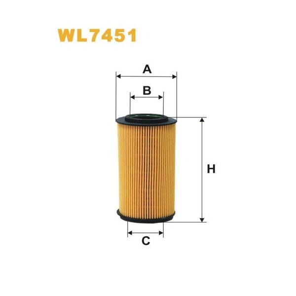 Filtro aceite Wix WL7451