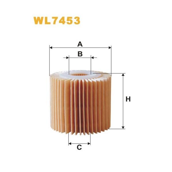 Filtro aceite Wix WL7453