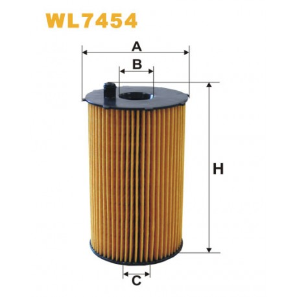 Filtro aceite Wix WL7454