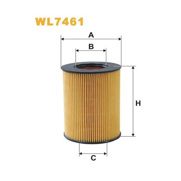 Filtro aceite Wix WL7461