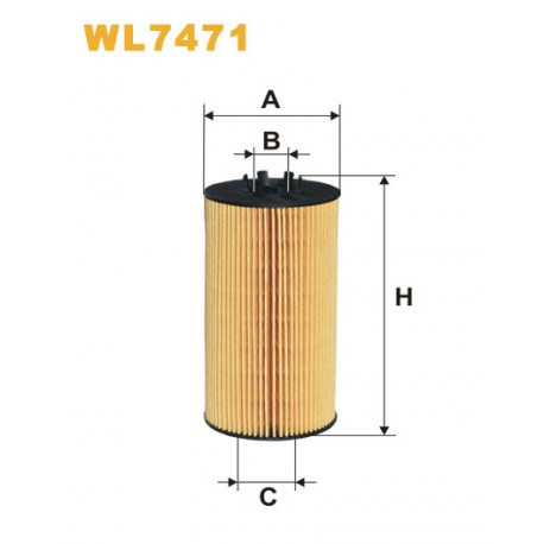 Filtro aceite Wix WL7471