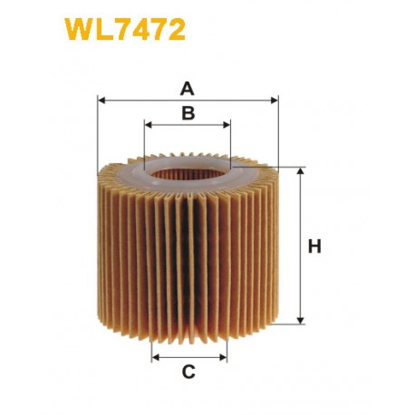 Filtro aceite Wix WL7472