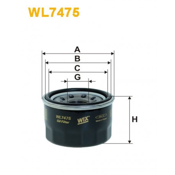 Filtro aceite Wix WL7475