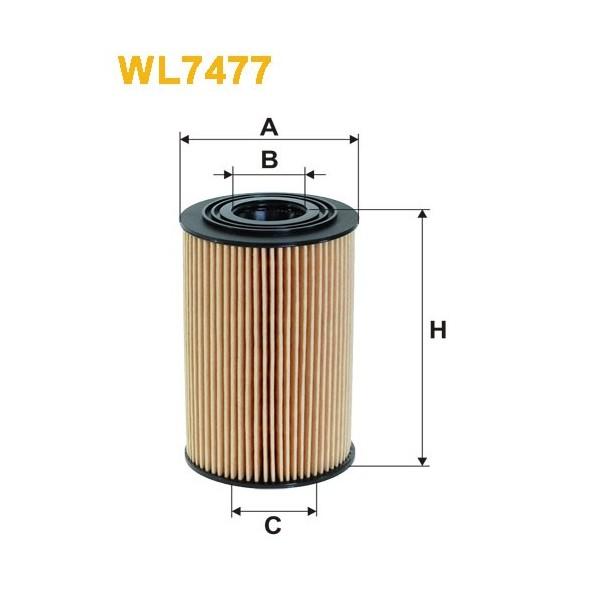 Filtro aceite Wix WL7477