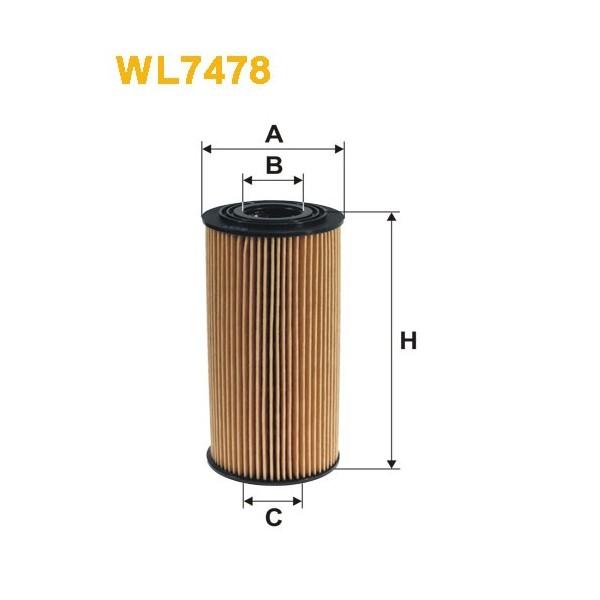 Filtro aceite Wix WL7478