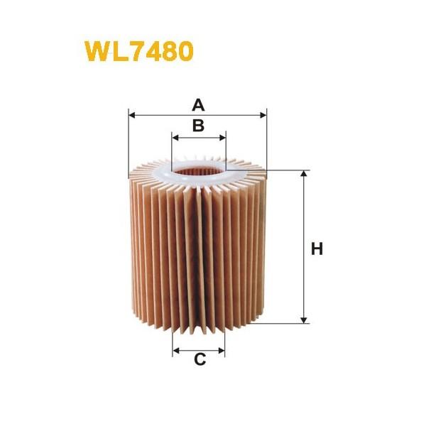 Filtro aceite Wix WL7480