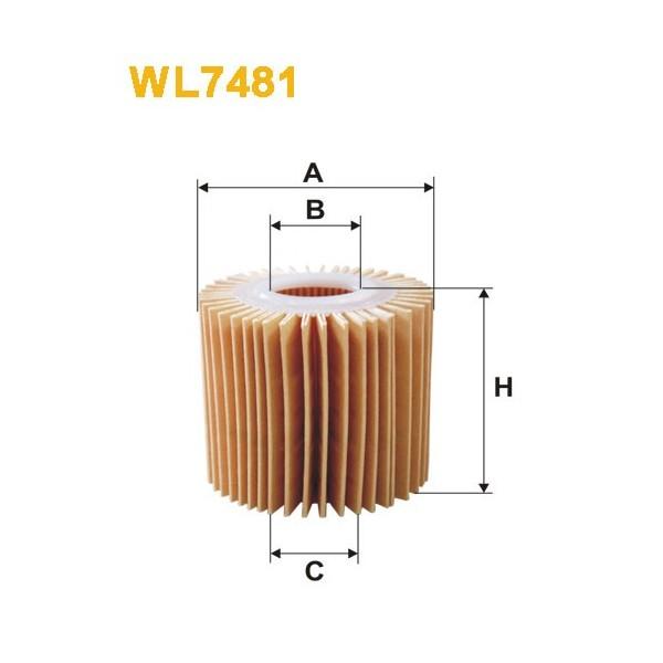 Filtro aceite Wix WL7481
