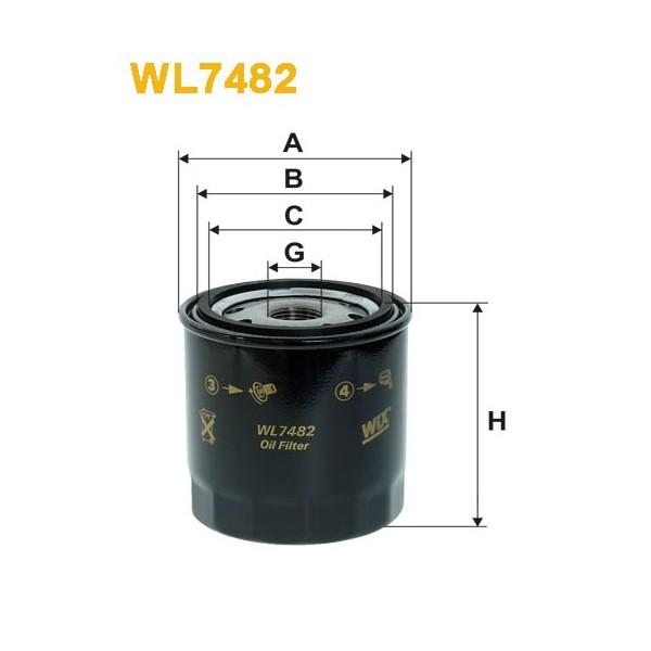 Filtro aceite Wix WL7482