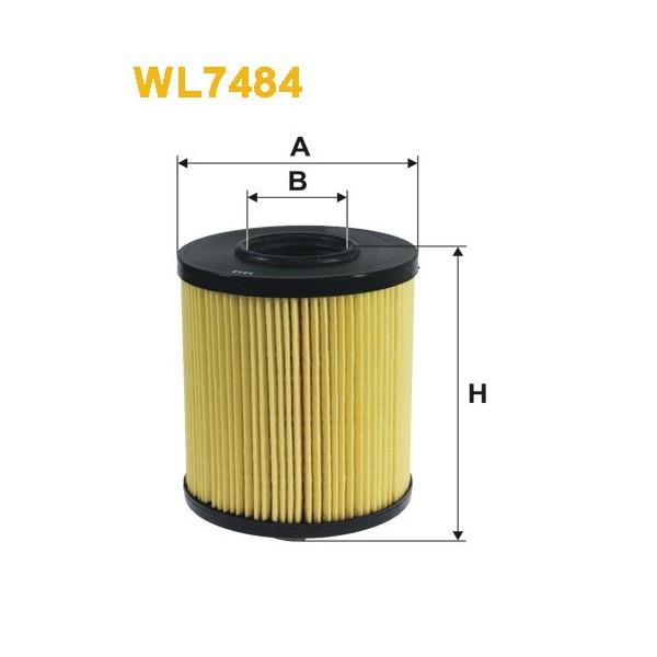 Filtro aceite Wix WL7484