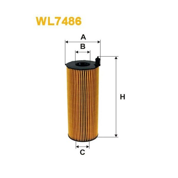 Filtro aceite Wix WL7486