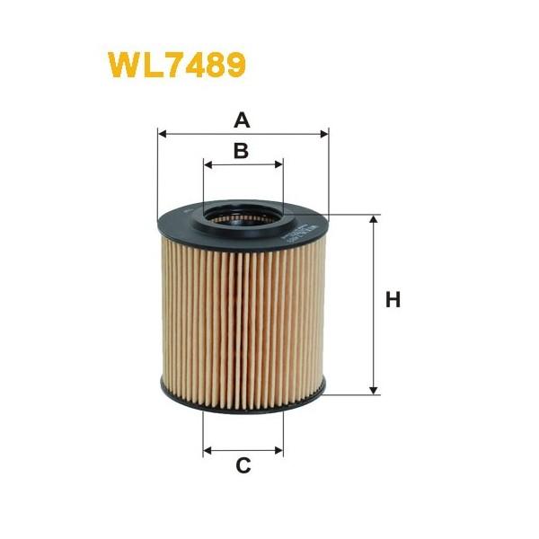 Filtro aceite Wix WL7489