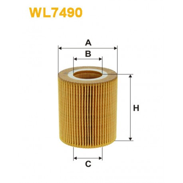 Filtro aceite Wix WL7490