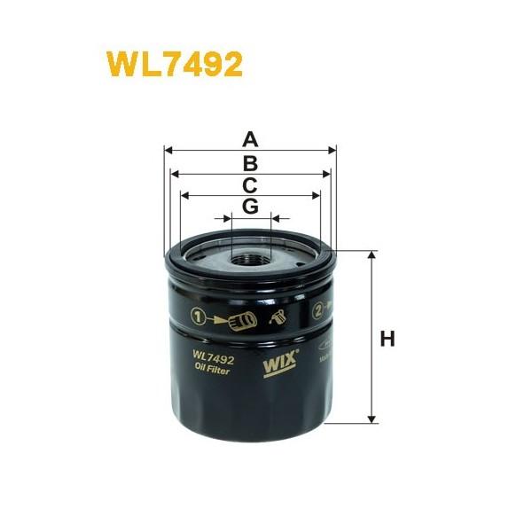 Filtro aceite Wix WL7492