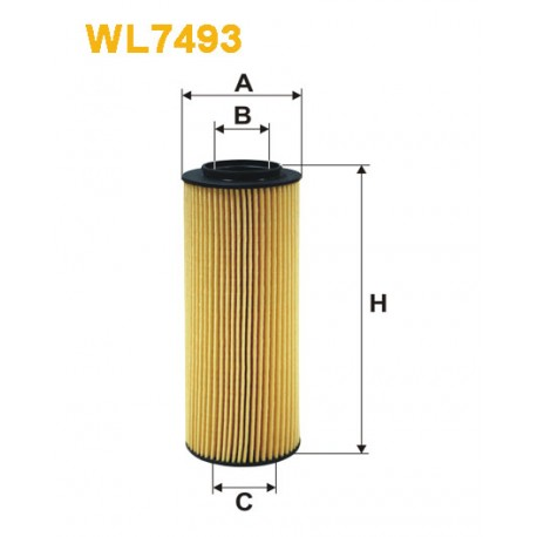 Filtro aceite Wix WL7493