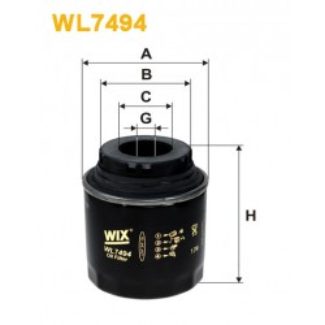 Filtro aceite Wix WL7494