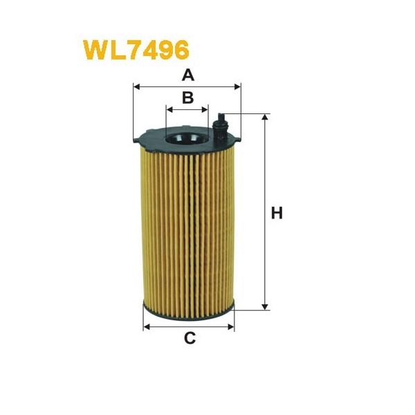 Filtro aceite Wix WL7496