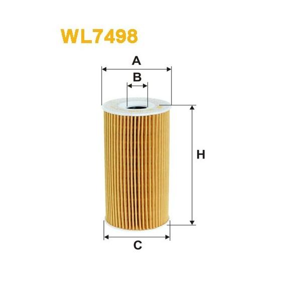 Filtro aceite Wix WL7498