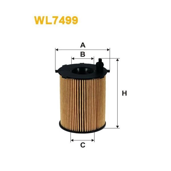 Filtro aceite Wix WL7499