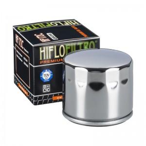 FILTRO DE ACEITE MOTO (CROMADO) HF172C