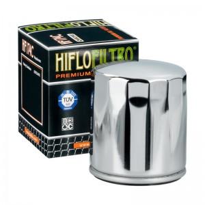 FILTRO DE ACEITE MOTO (CROMADO) HF174C