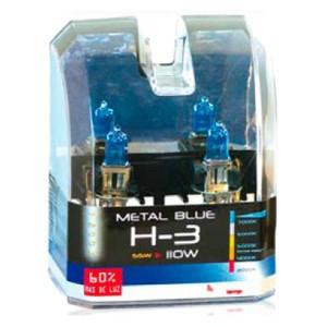 Lampara H3 Metal Blue 55W Estuche 2 Ud.