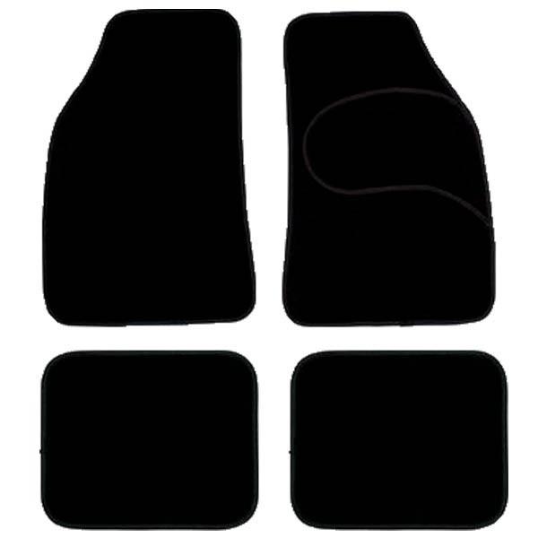 JUEGO ALFOMBRA MOQUETA BLACK CARPET 4 PZAS