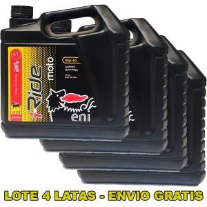 Aceite Eni i-Ride Moto 10w40 4Ltrs -LOTE 4 LATAS-